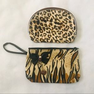Handbags - Animal Print Makeup Bag Set